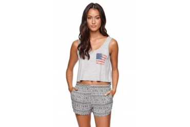 Womens La Hearts LA Heartsテ?ツ?Womens - La Hearts American Flag Pocket Swing Tank