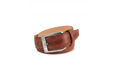 Men's Brown Hand Painted Italian Leather Belt