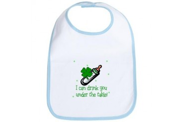 Irish Drink you under table Baby Bib