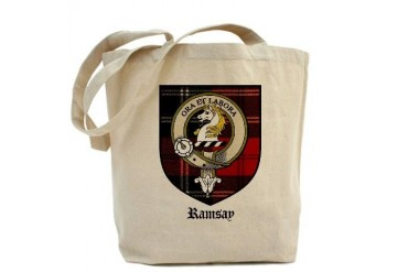 Ramsay Clan Crest Tartan Scottish Tote Bag by CafePress