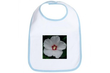 Lovely Rose of Sharon Tree Bib by CafePress