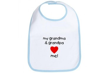 My grandma and grandpa love me Grandma Bib by CafePress