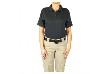 Women's 24-7 Short Sleeve Polos - Polo Shirt 24-7 Ladies Nvy Ss Mr
