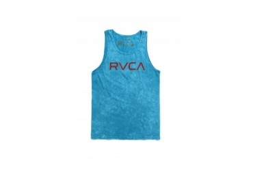 Mens Rvca Tank Tops - Rvca Big RVCA Ocean Wash Tank Top