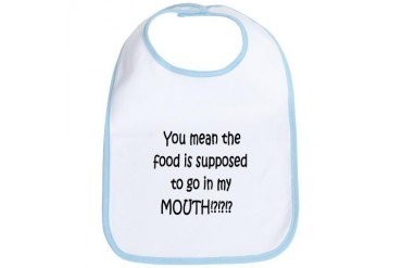 SHOCKED BABY BIB Baby Bib by CafePress