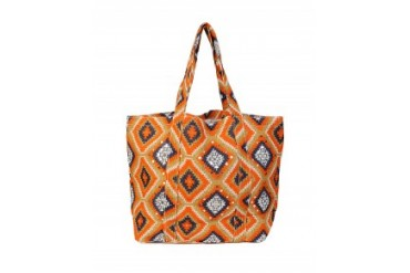 Muche et Muchette Jute Large Aztec Beach Bag Orange