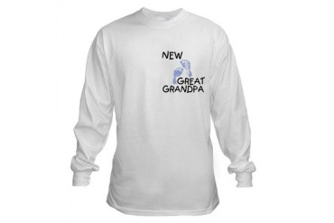 New Great Grandpa blue New baby Long Sleeve T-Shirt by CafePress