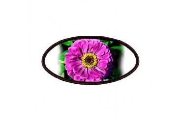 Purple-Pink Zinnia Nature Patches by CafePress