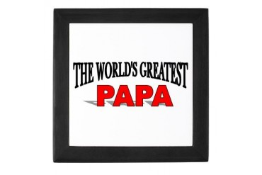The World's Greatest Papa Family Keepsake Box by CafePress