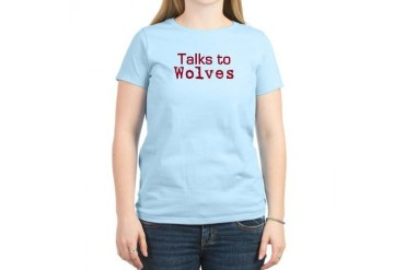 Talks to Wolves Women's Pink T-Shirt Fairy tale Women's Light T-Shirt by CafePress