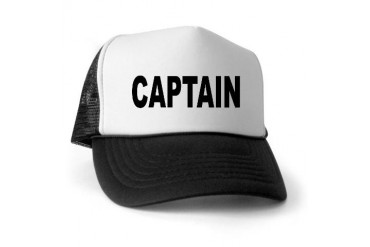 Captain Military Trucker Hat by CafePress