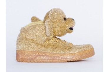Adidas Originals X Jeremy Scott Bear Womens in Gold size 11.0