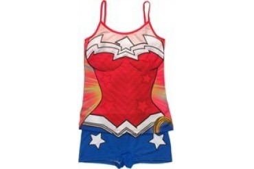 DC Comics Wonder Woman Suit Cami and Shorts Junior Pajama Set