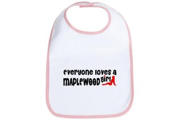 Everyone loves a Maplewood Girl Minnesota Bib by CafePress