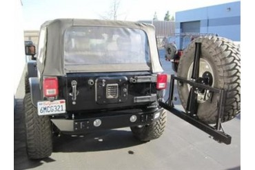 PUREJEEP Rear Stubby and Square Frame Tire Carrier PJ2002 Rear Bumpers