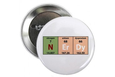 Chemistry Nerdy Button Internet 2.25 Button by CafePress