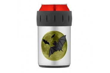Bats Thermos Can Cooler Halloween Thermosreg; Can Cooler by CafePress
