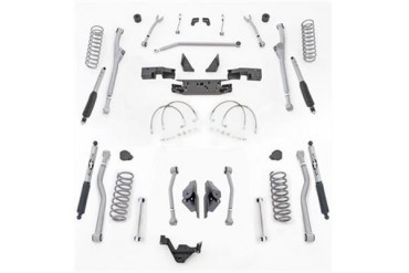 Rubicon Express 3.5 Inch Extreme Duty Radius Front/Rear 4-Link Long Arm Lift Kit with Mono-Tube Shocks JKR443M Complete Suspension Systems and Lift Kits