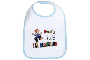 Daddy's Little Tax Deduction Funny Bib by CafePress
