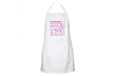 Breast Cancer Collage Breast cancer Apron by CafePress