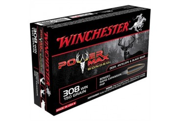 Winchester Power-Max Bonded Rifle Ammunition - Win Ammo 308 Win 150grpower Max Bonded Super-X 20bx