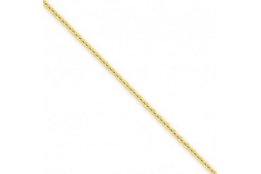 2mm, 14 Karat Yellow Gold, Cable Chain - 20 inch