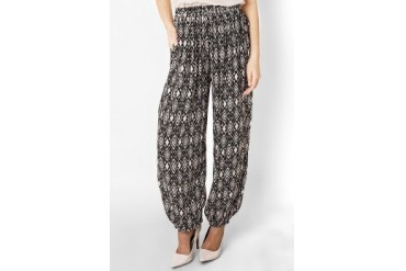 Chic Simple Ethnic Print Rayon Pants