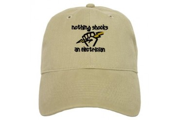 Nothing shocks an electrician Funny Cap by CafePress