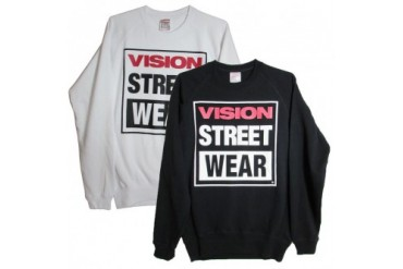 Vision Street Wear Mens Logo Fleece Crew Pullover Sweatshirt
