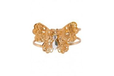 Fox's Accessories Butterfly Gold Plate Stretchable Bangle