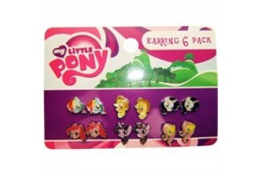 My Little Pony Heads 6 Pair Stud Earrings Set