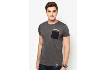 NEVER GROW OLD Dark Pocket Tee