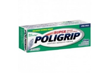 Super Poligrip Free Denture Adhesive Cream 0.75 oz Tube