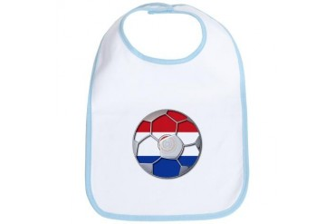 Paraguay Flag World Cup Soccer Futbol Football Bal Soccer Bib by CafePress