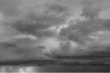 Luminous Clouds II BW Poster Print by Linda Omelianchuk (12 x 18)