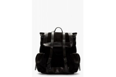 Damir Doma Black Leather And Suede Rucksack