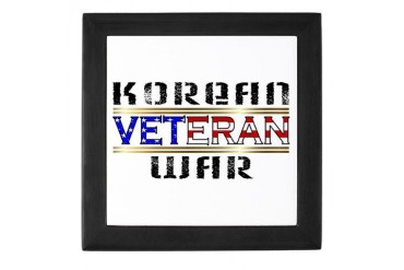 Korean War veteran Military Keepsake Box by CafePress