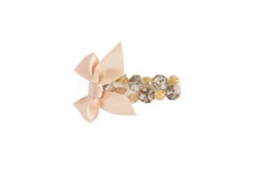 Handstitch Crystal And Beaded Bow Clip
