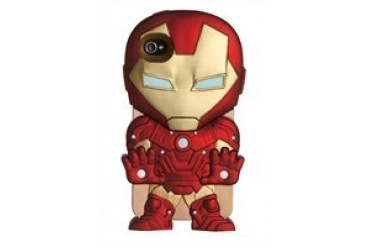 DC Comics Iron Man Chara-Cover iPhone 4/4S Rubberized Hard Phone Case Phone Case