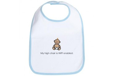 WiFi High Chair Internet Bib by CafePress