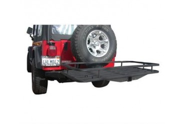 Olympic 4x4 Products Deluxe Receiver Rack 903-404 Trailer Hitch Cargo Carrier
