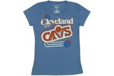 National Basketball Association Cleveland Cavaliers Classic Logo Baby Doll Tee by MIGHTY FINE