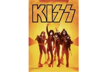 Kiss Group Gold Glow Fabric Poster