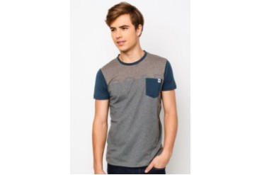 Short Sleeve Stripe T- Shirt With Pocket