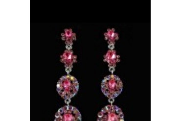 Jim Ball Earrings - Style CE436-Pink