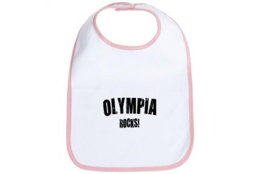Olympia Rocks Location Bib by CafePress