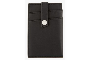 Want Les Essentiels De La Vie Black Leather Kennedy Money Clip Card Holder