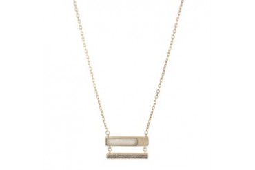 Double-Bar Pendant Necklace