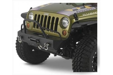 Warrior Stubby Winch Bumper with Pre-Runner Brush Guard and D-ring Mounts 59750 Front Bumpers