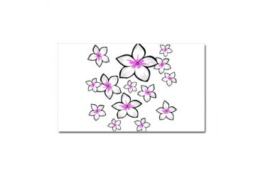 cute bright pink frangipani floral design Car Magn Cute Car Magnet 20 x 12 by CafePress